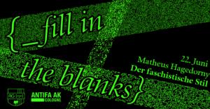[ _ fill in the blanks ] – Vortrag von Matheus Hagedorny mit anschl. Diskussion @ Autonomes Zentrum Köln | Köln | Nordrhein-Westfalen | Deutschland