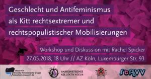 """Workshop zu """"Geschlecht und Antifeminismus als Kitt rechtsextremer und rechtspopulistischer Mobilisierungen"""""""