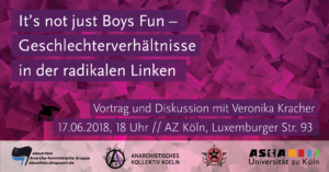 It's not just boys fun - Vortrag mit Veronika Kracher