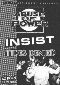 HC-Show: Abuse Of Power // Insist // Tides Denied // Heatwave