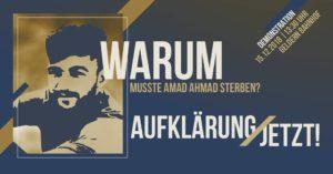 Warum musste Amad Ahmad sterben? Wir fordern Aufklärung, jetzt! @ Bahnhof Geldern
