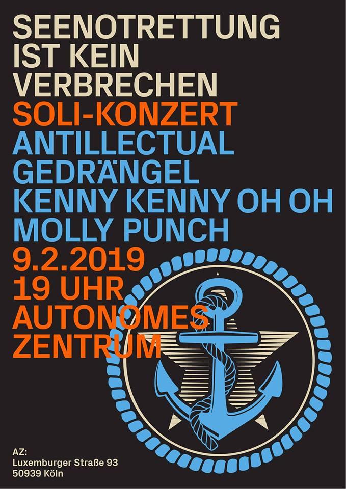 Seenotrettung ist kein Verbrechen - Solikonzert @ Autonomes Zentrum Köln