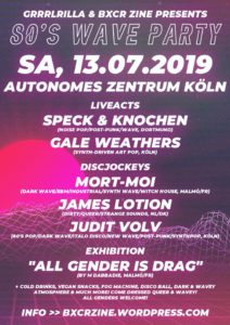 """80's Wave Party + Exhibition """"All gender is drag"""""""