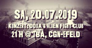 KOnzert: DOXA & Alien Fight Club @ Köln Ehrenfeld